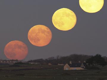 La super pleine lune du 19 mars le vrai et le faux ciel espace - Heure de lever et coucher de la lune ...