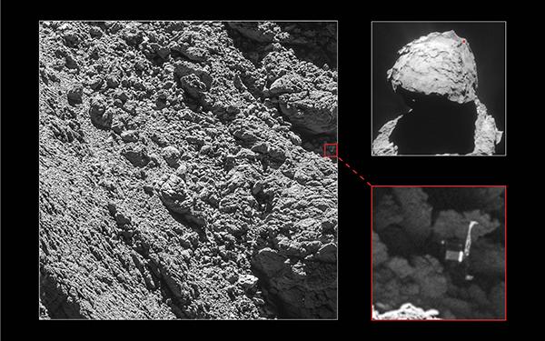 Philae retrouvé sur la comète « Chury » ! | Ciel & Espace