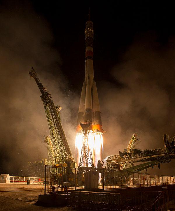 Fusée Soyouz: Trois spationautes rejoignent l'équipage de l'ISS