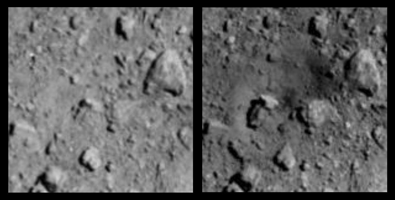 Haybusa 2 a creusé un cratère de 40 m sur l'astéroïde Ryugu