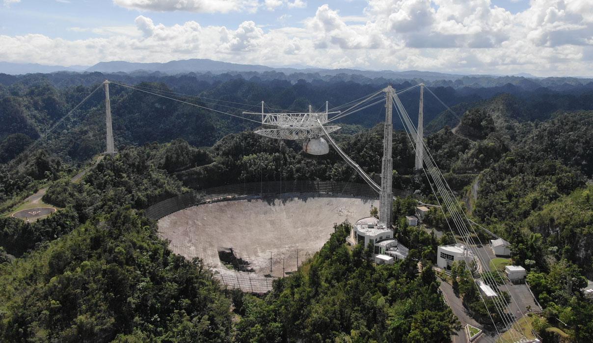 Irréparable, le radiotélescope d'Arecibo va être démoli