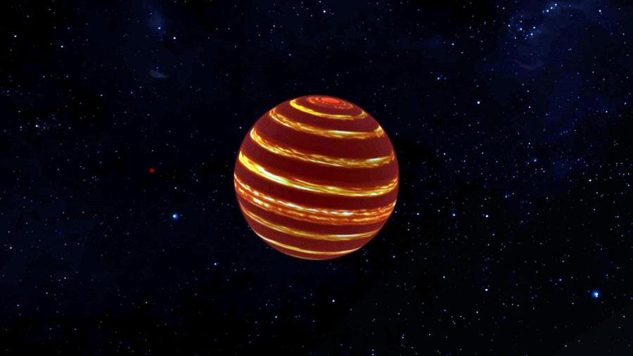 L'étoile ratée la plus proche serait striée de nuages comme Jupiter