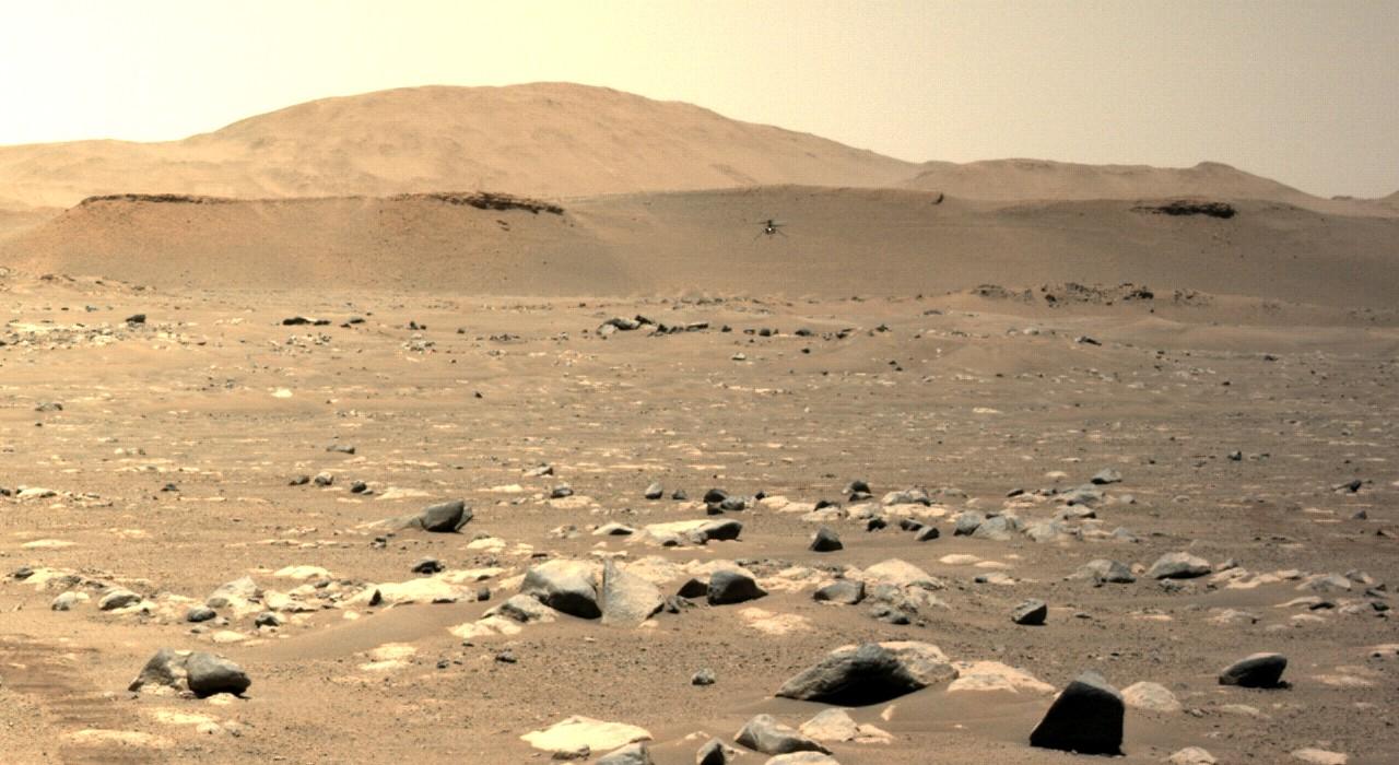 Ingenuity fait un 100 mètres sur la planète Mars
