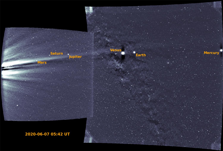 Parker Solar Probe photographie 6 planètes d'un coup, dont la Terre