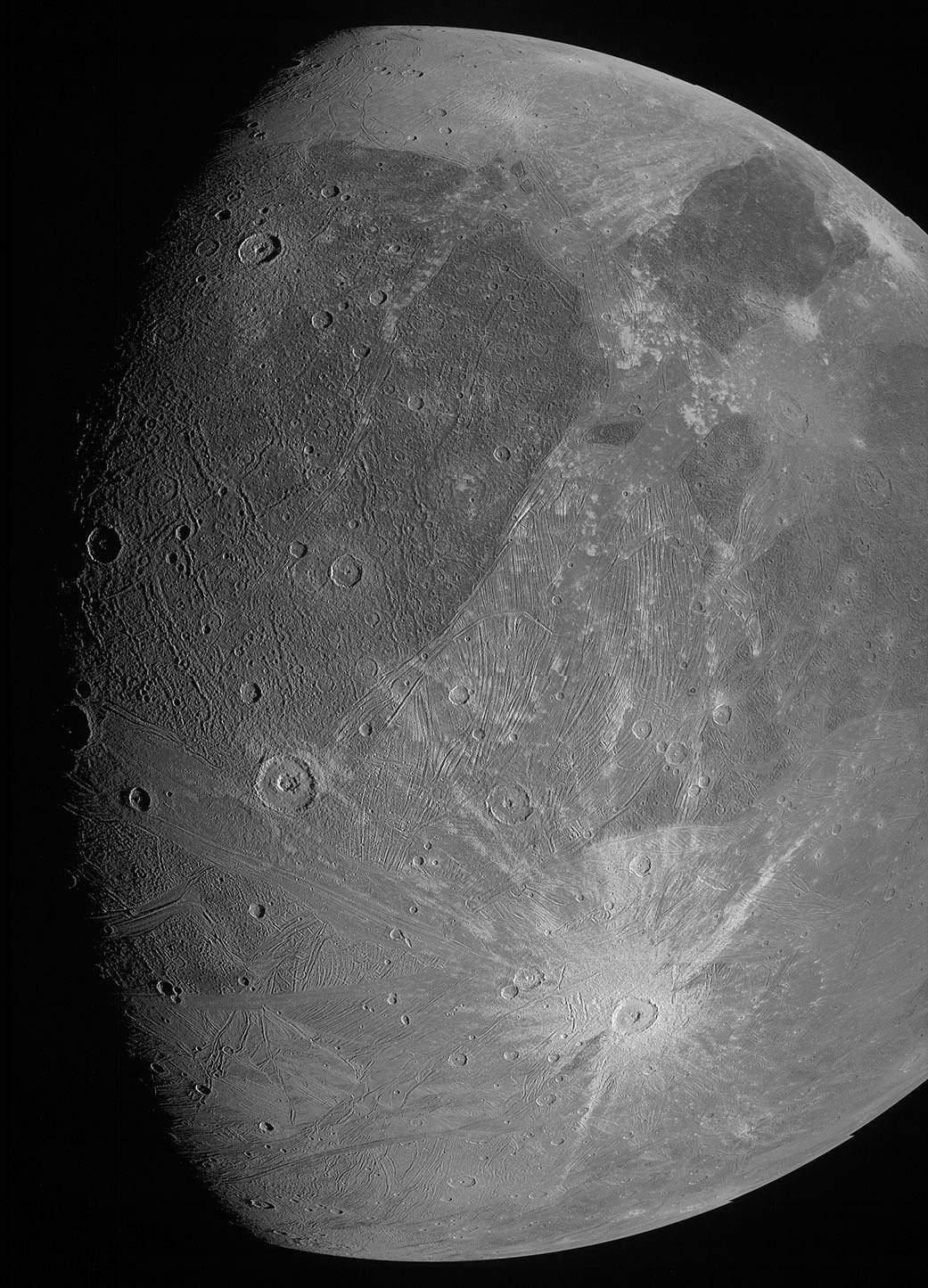 La sonde Juno prend de nouvelles images de Ganymède