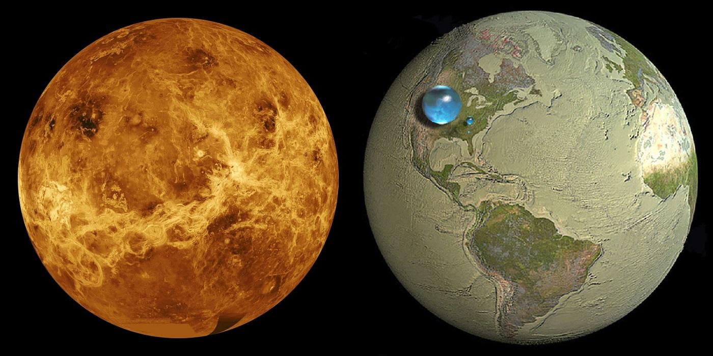 Vénus n'a jamais possédé d'océans… et la Terre a eu beaucoup de chance