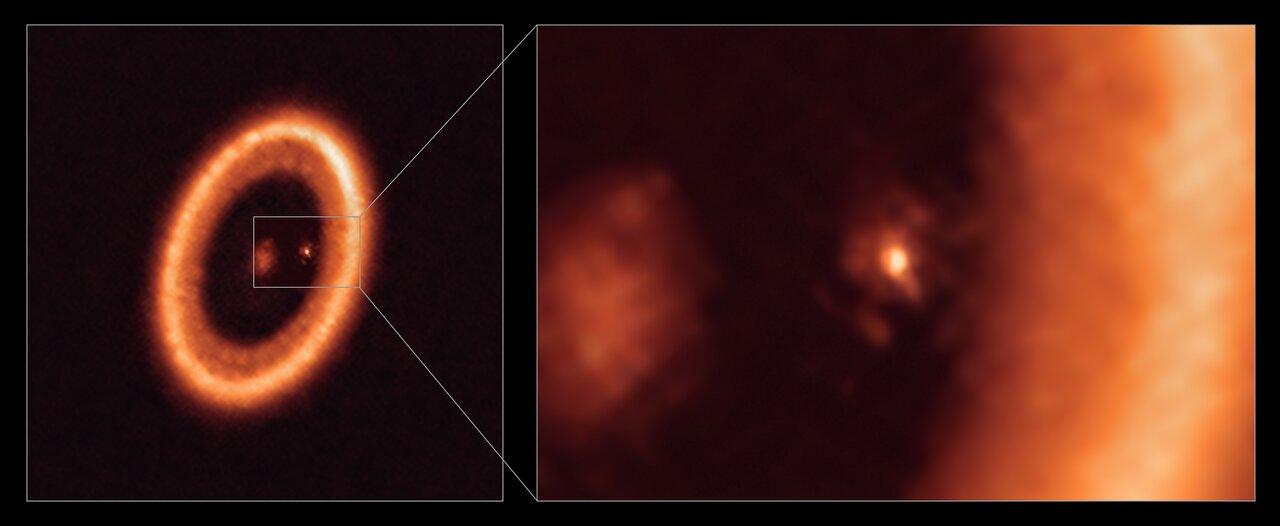 Alma observe en direct la formation de satellites autour d'une exoplanète